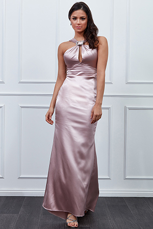 Wholesale-Vicky-Pattison-Satin-Halter-Neck-Buckle-Maxi-Dress-DR2213VP