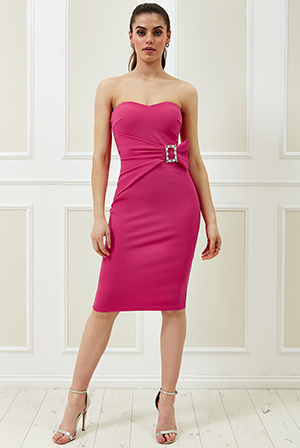 Wholesale-Vicky-Pattison-Buckle-Bandeau-Midi-Dress-DR2214VP
