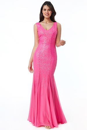 Wholesale-Sequin-V-Neck-Maxi-Dress-DR2225