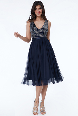 Wholesale-Sequin-Bodice-Pleated-Midi-Dress-DR2226