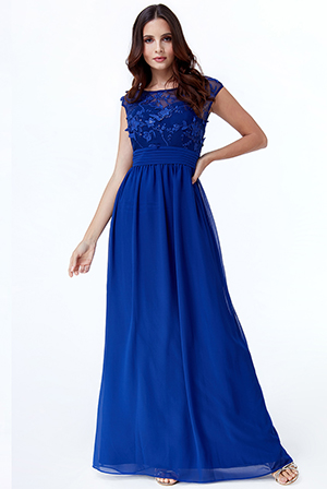 Wholesale-Flower-Embroidered-Bodice-Chiffon-Maxi-Dress-DR2227