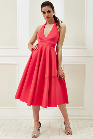 Wholesale-Vicky-Pattison-Halter-Neck-A-Line-Midi-Dress
