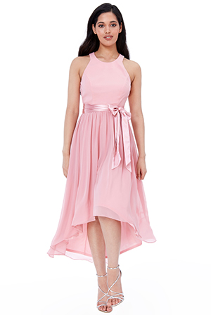 Wholesale-Chiffon-High-Low-Sleeveless-Midi-Dress-DR2249