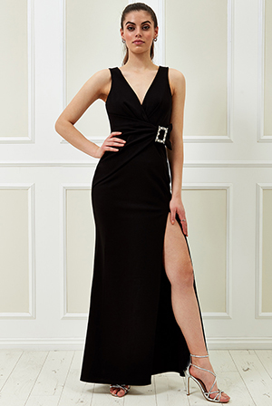 Wholesale-Vicky-Pattison-Buckle-Front-Maxi-Dress-DR2258VP