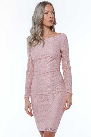 Wholesale-Long-Sleeve-Bodycon-Midi-Dress