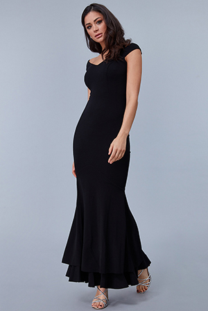Wholesale-Double-Hem-Frill-Maxi-Dress-DR2289