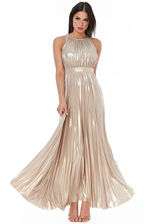 Wholesale-Metallic-Criss-Cross-Maxi-Dress-DR2308