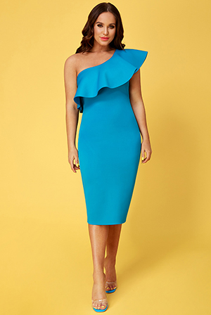 Wholesale-Vicky-Pattison-One-Shoulder-Frill-Neck-Dress-DR2325VP