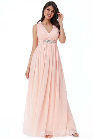 Wholesale-V-Neck-Embellished-Maxi-Dress-DR2337