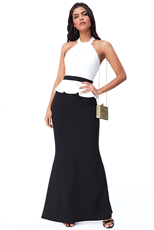 Wholesale-Contrast-Peplum-Maxi-Dress-DR2346