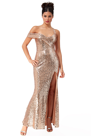 Wholesale-Off-The-Shoulder-Bandeau-Sequin-Maxi-Dress-DR2381