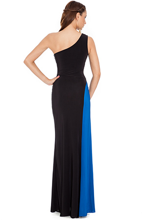 Wholesale Draped One Shouldered Maxi Dress