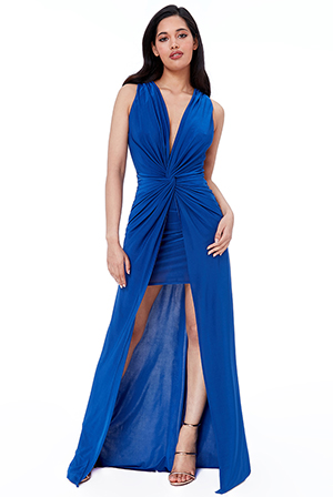 Wholesale-Twist-At-Waist-Front-Slit-Maxi-DR2400