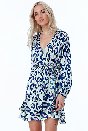 Wholesale-Animal-Print-Wrap-Dress-DR2436