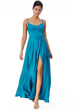 Wholesale-Satin-Flared-Wrap-Maxi-Dress-DR2443