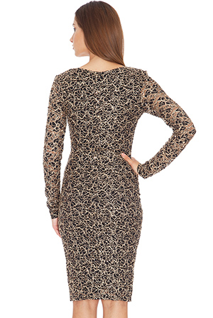 Wholesale Embroidered Sequin Midi Dress
