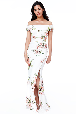 Wholesale-Floral-Off-The-Shoulder-Maxi-Dress-with-Split-DR2471