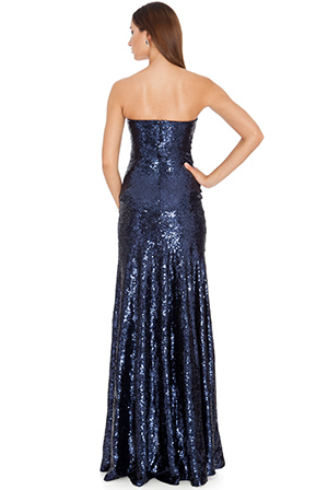 Wholesale Strapless Sequined Dress