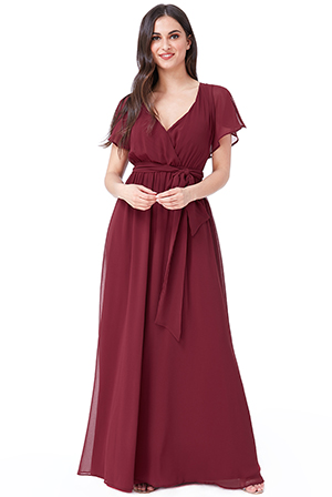 Wholesale-Flutter-Sleeve-Chiffon-Maxi-Dress-DR2486