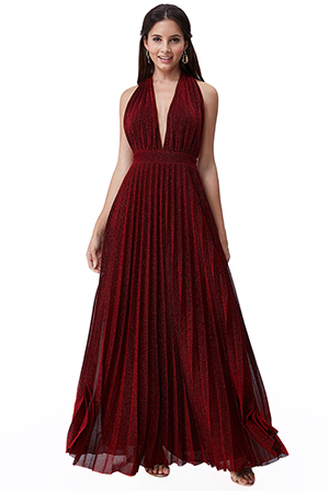 Wholesale-Deep-V-Neck-Lurex-Maxi-Dress-DR2496