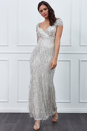 Wholesale-Front-Wrap-Hanging-Sequin-Maxi-Dress-DR2508