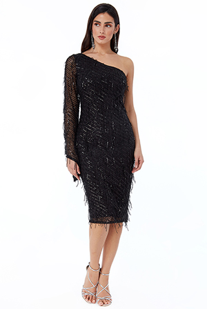 Wholesale-Asymmetric-Flared-Sleeve-Sequin-Midi-DR2509