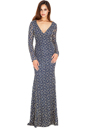 Wholesale Backless Sequined Evening Maxi Dress