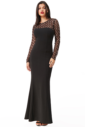 Wholesale-Diamond-and-Sequin-Contrast-Maxi-Dress-DR2525