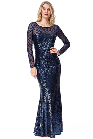 Wholesale-Sheer-Diamond-Design-Sequin-Maxi-Dress-DR2526