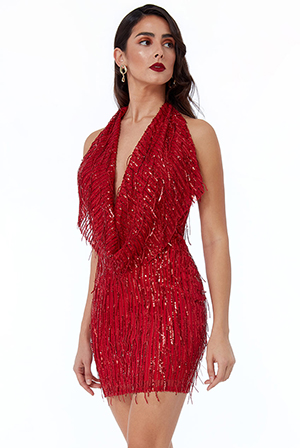 Wholesale-Cowl-Neck-Sequin-Mini-Dress-DR2530