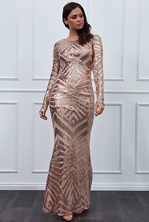 Wholesale-Geometrical-Sequin-Open-Back-Maxi-Dress-DR2531