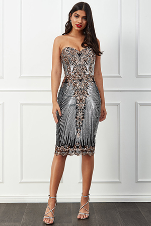 Wholesale-Sweetheart-Neck-Embroidered-Sequin-Midi-Dress-DR2553