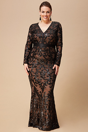 Wholesale-Plus-Size-Embroidered-Sequin-and-Mesh-Maxi-Dress-DR2558P