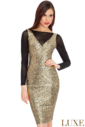 Sequin-and-Mesh-Dress