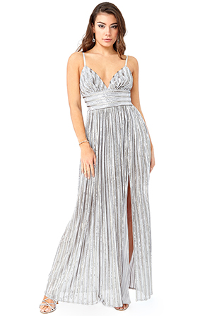 Wholesale-Stripe-Sequin-Maxi-Dress-with-Split-DR2775