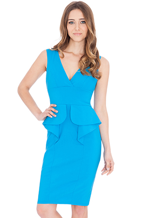Wholesale Waterfall Peplum Dress