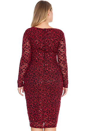 Wholesale Sleeved Sequin Party Dress