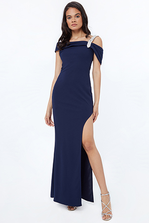 Diamonte-Belt-Trim-One-Shoulder-Maxi-Dress