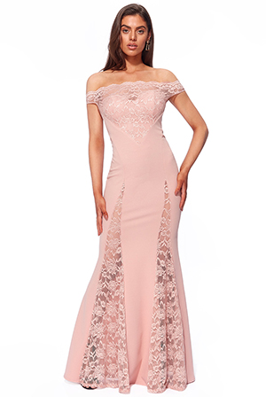 Wholesale-Scallop-Bardot-with-Lace-Inserts-Maxi-DR2871