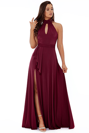 Polytech-Highneck-Maxi-Dress