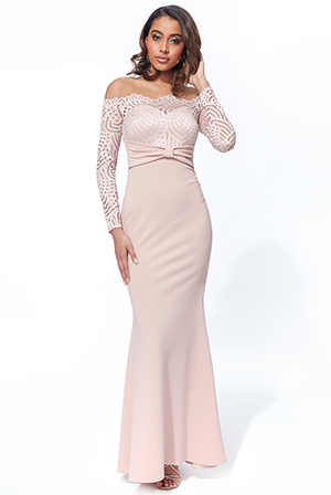 Off-The-Shoulder-Scuba-Crepe-Maxi-With-Bow-Detail