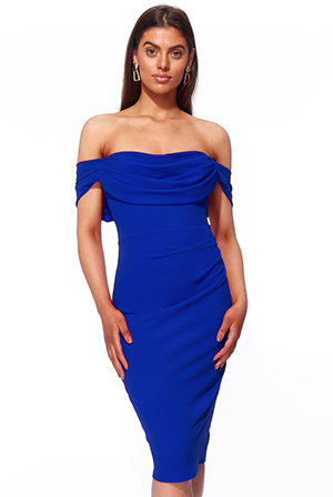 Wholesale-Cowl-Neck-Pleated-Waist-Midi-DR2897