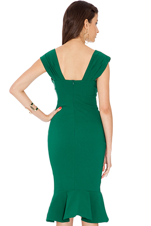 Wholesale Midi Fishtail Dress