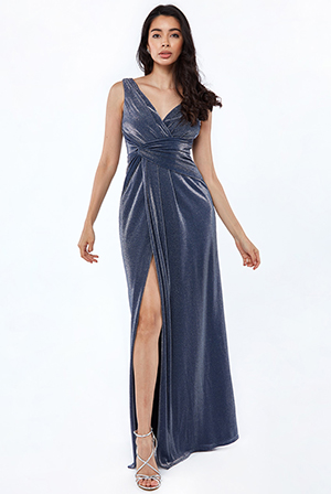 Assymetric-Front-Knot-Lurex-Maxi-Dress