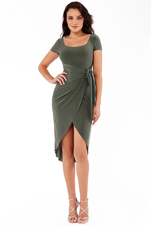 Wrap-Over-Midi-Dress