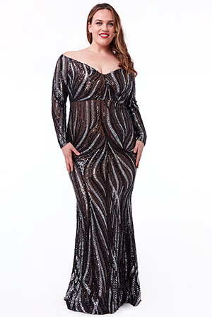 Plus-Size-Off-Shoulder-V-Neck-Maxi-Dress