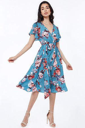 Floralprint-Midi-Dress-With-Flutter-Sleeves