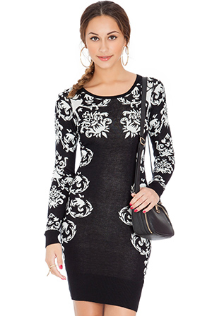 Filigree-Knitted-Sweater-Dress