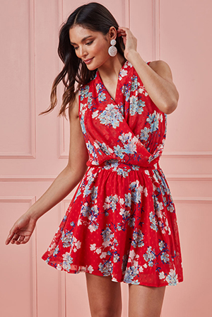 Wrap-Style-Sleeveless-Floral-Midi-Dress