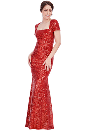 Sequin-Portrait-Neckline-Maxi-Dress